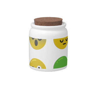 Emoji happy face candy dishes