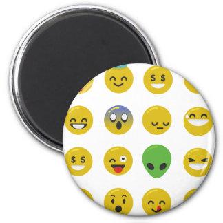 Emoji happy face magnet