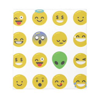 Emoji happy face notepad