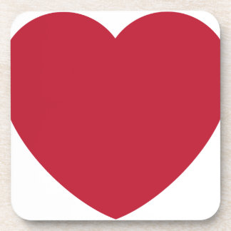Emoji Heart Coils Beverage Coaster