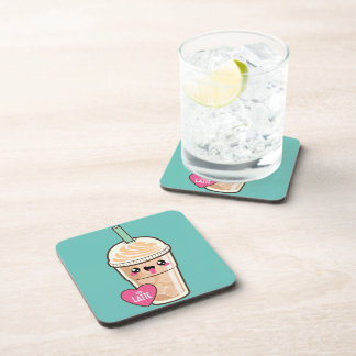 Emoji Iced Latte Drink Coaster