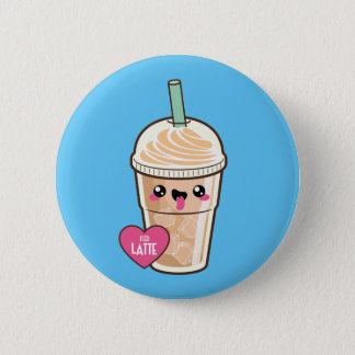 Emoji Iced Latte Pinback Button