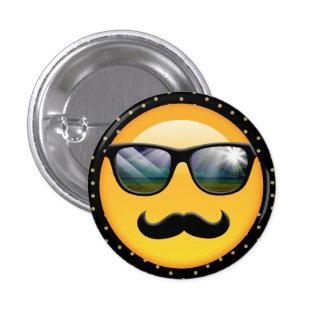 Emoji ID230 sombrío estupendo Pin Redondo De 1 Pulgada