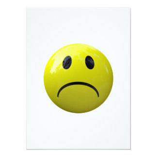 """emoji infeliz de la cara invitación 5.5"""" x 7.5"""""""