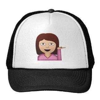 EMOJI INFORMATION DESK PERSON MESH HATS