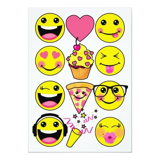 Emoji Inspired Birthday Party Invitation | Zazzle.com