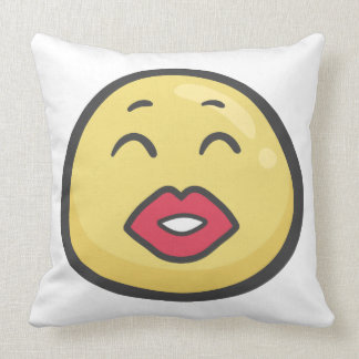 Emoji: Kissing Face With Smiling Eyes Throw Pillow