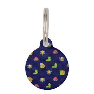 emoji lady bug caterpillar snail bee polka dots pet tag