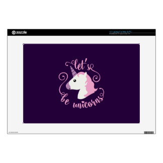 Emoji Let's Be Unicorns Decals For Laptops