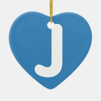 Emoji Letter J Twitter Adorno Navideño De Cerámica En Forma De Corazón