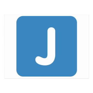 Emoji Letter J Twitter Postcard