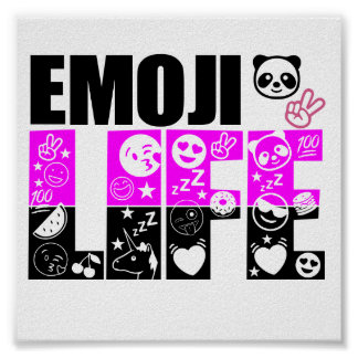 Emoji Life Value Poster