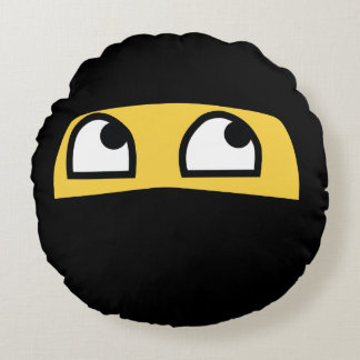 Emoji lindo de Lil Ninja Cojín Redondo