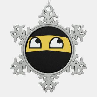 Emoji lindo del guerrero de Ninja Adorno De Peltre En Forma De Copo De Nieve