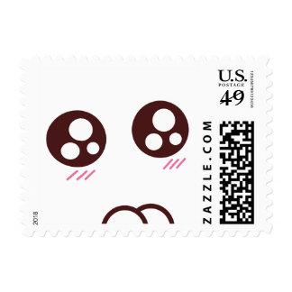 Emoji lindo del kawaii del gatito sello