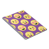 Emoji Love Pattern Notebook