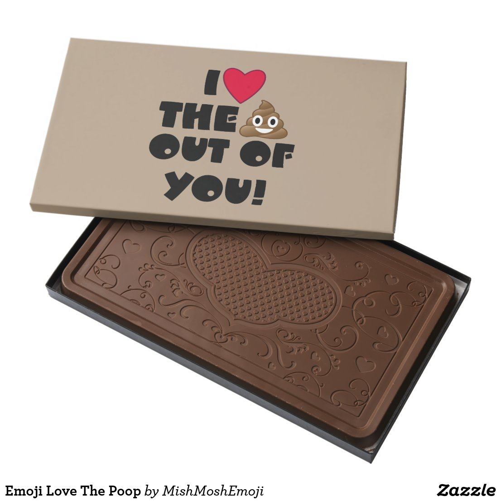 Emoji Love The Poop Milk Chocolate Bar