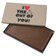 Emoji Love The Poop Milk Chocolate Bar