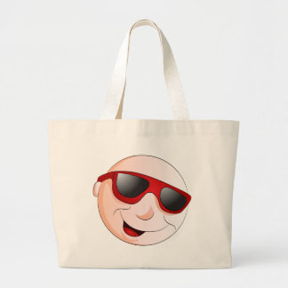 Emoji Man Face Facial Expression Jumbo Tote Bag