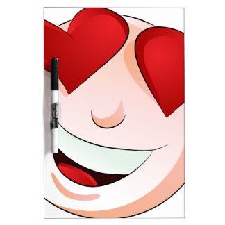 Emoji Man Face Facial Love Heart Expression Dry Erase Board