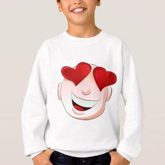 Emoji Man Face Facial Love Heart Expression Sweatshirt