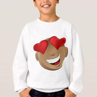Emoji Man Face Facial Love Hearts Expression Sweatshirt