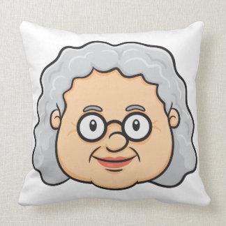 Emoji: Older Woman Face Pillow