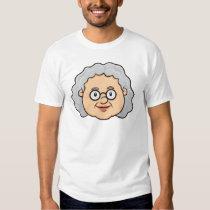 Emoji: Older Woman Face T-Shirt