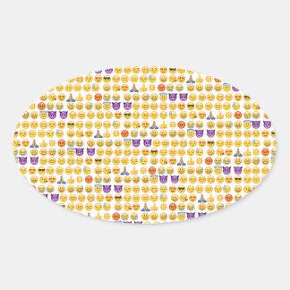 emoji overload oval sticker
