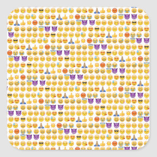 emoji overload square sticker