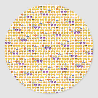 emoji overload classic round sticker