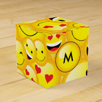 Emoji Party Smiley Emoticon Faces Pattern Favor Box