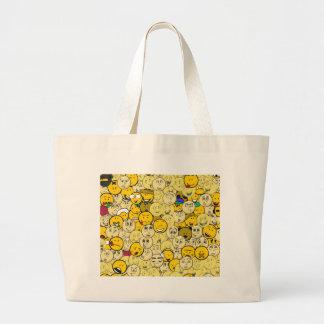 Emoji Pattern Canvas Bag