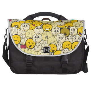 Emoji Pattern Laptop Bags