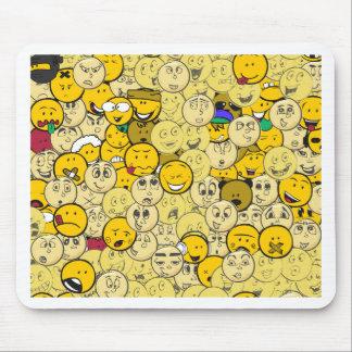 Emoji Pattern Mouse Pad