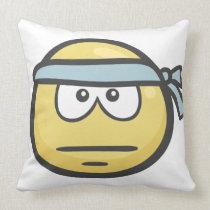 Emoji: Persevering Face Throw Pillow