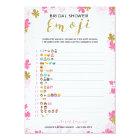 emoji pictionary bridal shower game pink floral