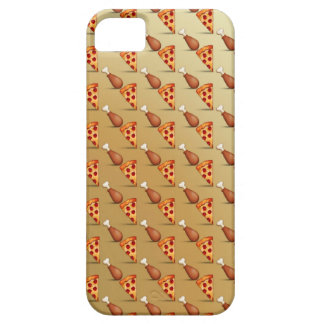 Emoji Pizza and Chicken wing iPhone 5 Case