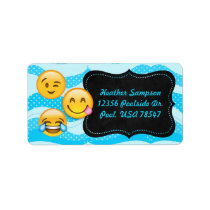 Emoji Pool Party Chalkboard Address Labels