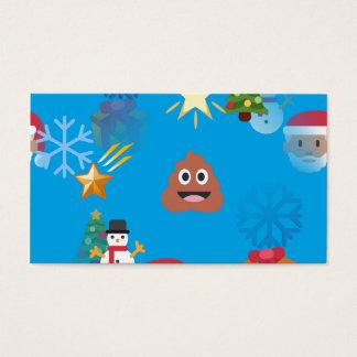 emoji poop christmas business card