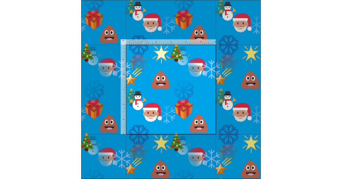 Emoji poop christmas fabric zazzle for Emoji fabric