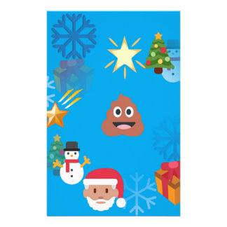 emoji poop christmas stationery