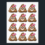 "Emoji poop girl letterhead<br><div class=""desc"">Page of Emoji girl Poop used for &quot;Pin the poop on the toilet&quot; game.