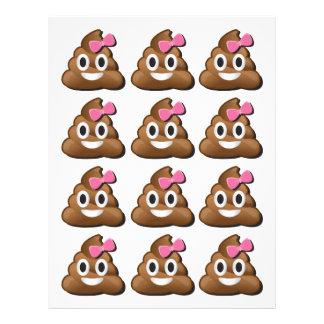 Emoji poop girl letterhead