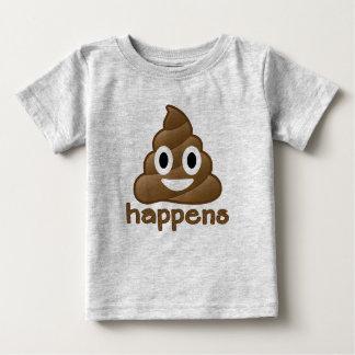 Emoji Poop Happens Baby T-Shirt