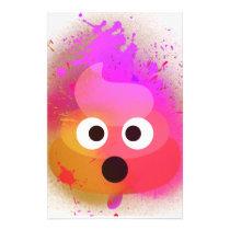 Emoji Poop Spray Paint Pink/Purple Stationery