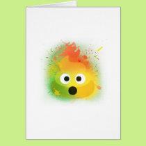 emoji poop spray paint yellow cute design card