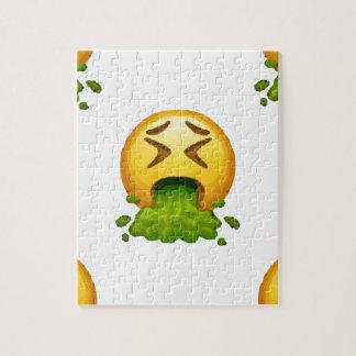 emoji puking jigsaw puzzle