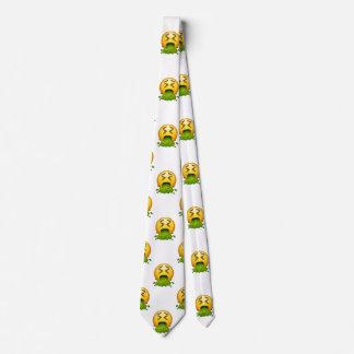 emoji puking menswear mens necktie neck tie