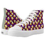 Emoji Purple High-Top Sneakers